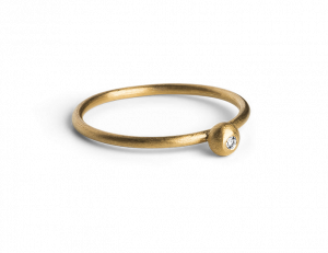 Princess Ring, gold plated sterling silver