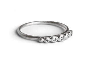 Big Diadem Ring, sterling silver