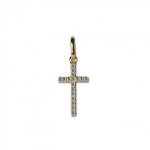 Small Cross Pendant with Diamonds
