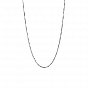 Curb Chain, sterling silver