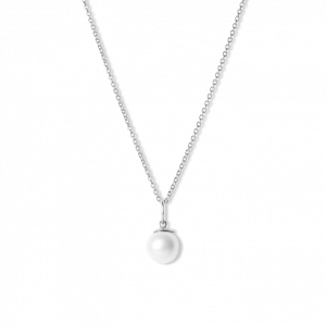 Combination of an Anchor Chain and Big Pearl Pendant, sterling silver