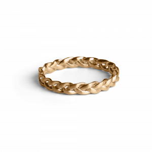 Small Braided Ring, gold plated sterling silver