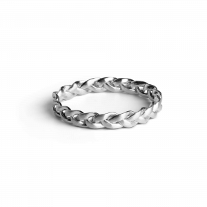 Small Braided Ring, sterling silver