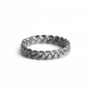 Medium Braided Ring, sterling silver