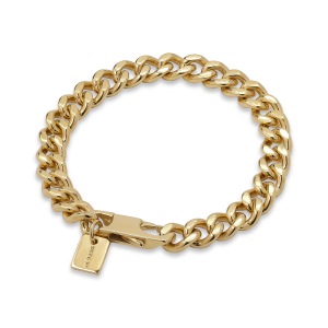 F+E Chain Bracelet, gold-plated sterling silver