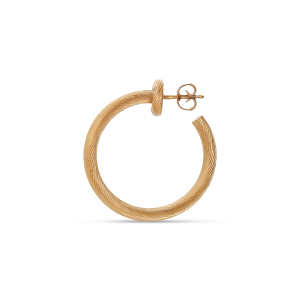 Salon Hoop, gold-plated sterling silver