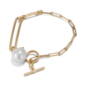Salon Pearl Bracelet, gold-plated sterling silver