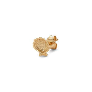 Salon Scallop Earstud Back, gold-plated Sterling Silver