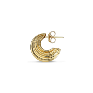 Small Sculpture Earring, gold-plated sterling silver