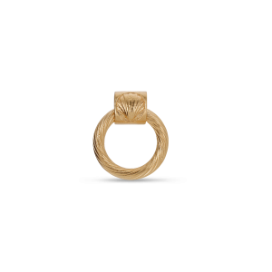 Small Salon Knocker, gold-plated sterling silver