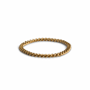 Small Chain Ring, gold plated sterling silver