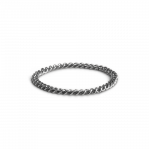 Small Chain Ring, sterling silver