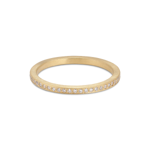 Small alliance ring, 18-carat gold, 0.005 ct diamonds