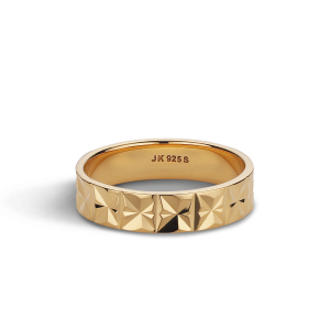 Medium Reflection ring, gold-plated sterling silver