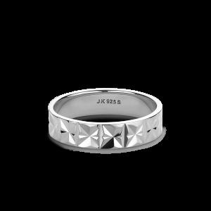 Medium Reflection ring, sterling silver