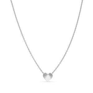 Reflection Heart necklace, sterling silver