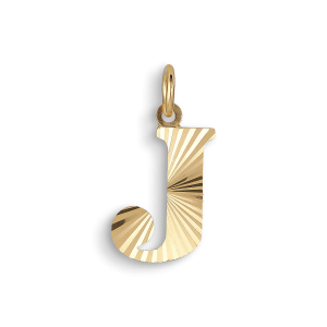 Reflection Letters, gold-plated sterling silver