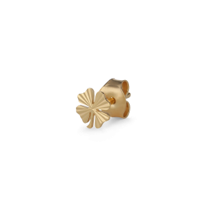 Reflection Clover Stud, gold-plated sterling silver