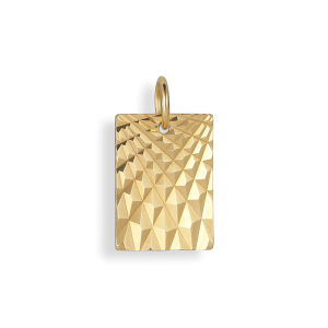Reflection Square pendant, gold-plated sterling silver