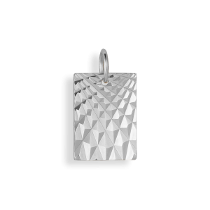 Reflection Square pendant, sterling silver