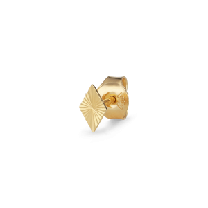 Reflection Stud Rhombe, gold-plated sterling silver