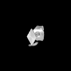 Reflection Stud Rhombe, sterling silver