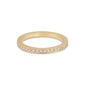 Large alliance ring, 18-carat gold, 0,01 ct diamonds