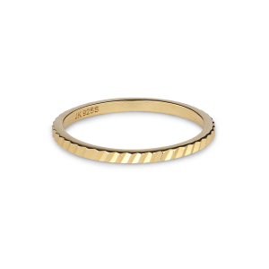 Small Reflection ring, gold-plated sterling silver