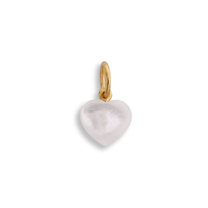 Small Souvenir Heart, pendant, gold-plated sterling silver