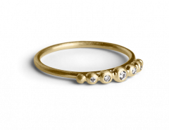 Big Diadem Ring, gold plated sterling silver