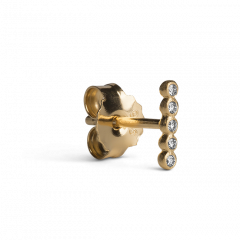 Ball Row Earring with Diamonds