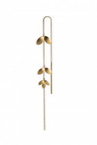 Chain Earring with 3 Leaves