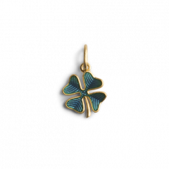 Four-Leaf Clover Pendant with Enamel
