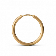Medium Hoops, 18-karat gold
