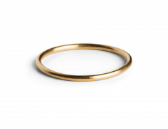 Simple Ring, gold plated sterling silver