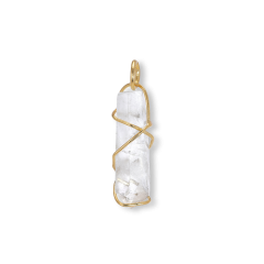 F+E Crystal Pendant, gold-plated Sterling silver