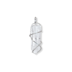 F+E Crystal Pendant, Sterling silver