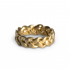 Big Braided Ring, gold plated sterling silver