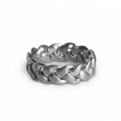 Big Braided Ring, sterling silver
