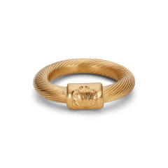 Big Salon Ring, gold-plated sterling silver