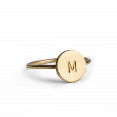 Lovetag Ring, gold plated sterling silver