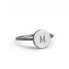 Lovetag Ring, sterling silver