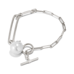 Salon Pearl Bracelet, sterling silver