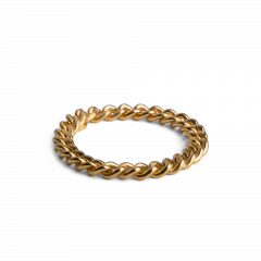 Big Chain Ring, gold plated sterling silver