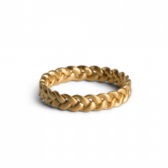 Medium Braided Ring, gold plated sterling silver