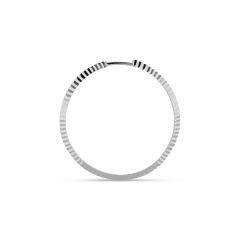 Reflection hoop, sterling silver