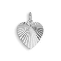 Reflection Heart pendant, sterling silver