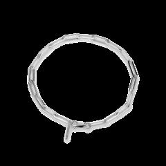 Reflection stretch bracelet, sterling silver