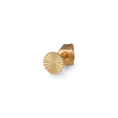 Reflection Stud Round, gold-plated sterling silver