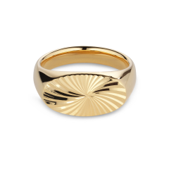 Reflection Signet ring, gold-plated sterling silver